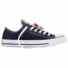 Converse CT All Star Double Tongue Ox Navy White Womens Canvas Low Top Trainers