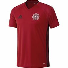 adidas DENMARK DBU NATIONAL TEAM TRAINING SHIRT MENS TEE T SHIRT V NECK FOOTBALL