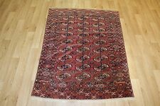 Antique Tekke Princess Bokhara Bokara Turkoman  Dowry Rug Carpet 5 X 3.6 FT