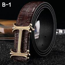 NEW MENS DESIGNER BELTS FOR MEN & WOMEN,H BELT, LETTER H BUCKLE,LUXURY LEATHER.H