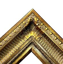 "4.25"" WIDE Dark Gold Ornate Oil Painting Wood Picture Frame 655D frames4art"