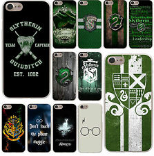 Harry Potter Slytherin School Crest Hard Phone Cover Case for Apple iPhone