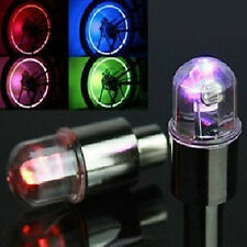 5/10X Flash LED Tyre Tire Wheel Valve Caps Neon Light Lamp for Bike Car Bicycle