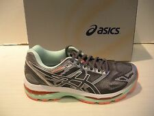 ASICS WOMENS GEL-NIMBUS 19 RUNNING SHOES-SNEAKERS-T750N-9701 -CARBON WHITE/CORAL