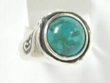 Hand Crafted 925 Sterling Silver SHABLOOL Ring Turquoise Cocktail