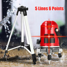 5 Lines 6 Points 360° Rotary Laser Level Line Self-Leveling Measure+Tripod Kit