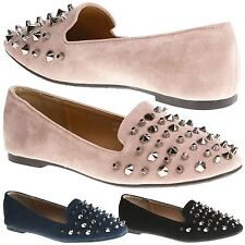 Asli Womens Flats Slip On Studded Loafers Ladies Pumps Style Slippers Shoes Size