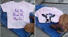 "Ask Me About My Moo Cow Toddler ""Mattie the Moo Cow""  Girls T-Shirt"