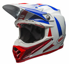 Bell Blue/Red/Blue Adult Moto-9 Flex Vice Dirt Bike Helmet MX Moto-X Helmet
