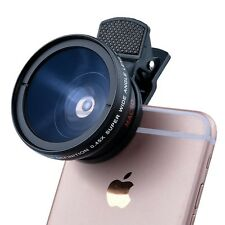 Super Macro Lens for iPhone Samsung HD 37MM 0.45x Wide Angle Lens Camera Kit