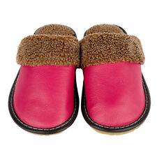 Comfort  Womens Slippers Cow Genuine Leather House Flats Home Shoes for Couple