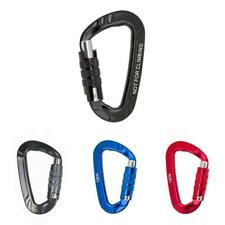 12KN D Ring Carabiner Screw Locking Key Chain Snap Clip Hook For Camping Hiking