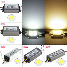 10W 20W 30W 50W 100W IP67 Power LED Driver Supply Cool Warm White LED Chip Lamp