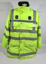 Ex Police Hi Vis Waterproof Jacket With Chequered Reflective Strip