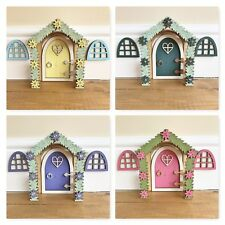Enchanted Fairy Door Way With 2 Windows, Magical Fairies Gift