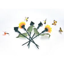 Fashion Vibration Solar Power Dancing Flying Fluttering Butterfly Garden DecorSU