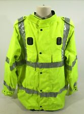 Ex Police Hi Vis Waterproof Jacket With Liner & Reflective Strips