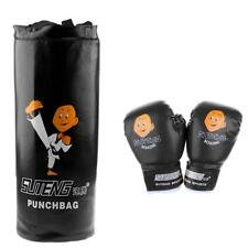 Boxing Punch Bag Set Children Kids Home MMA Training Gloves PU Leather Mitts