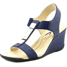Anne Klein AK Loona Women  Open Toe Synthetic Blue Wedge Sandal