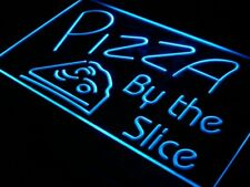i306-b OPEN Pizza By The Slice Cafe Shop Neon Light Sign