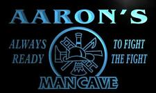 x0077-tm Aaron's Firefighter Man Cave Custom Personalized Name Neon Sign