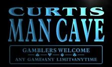 x0111-tm Curtis Man Cave Poker Room Custom Personalized Name Neon Sign