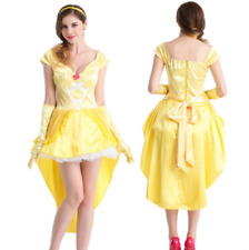 Adult Ladies Princess Belle Costume Beauty And The Beast Fairytale Fancy Dress
