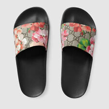 NWT:Size 6/7/8@@@@Gucci-- Women's Light GG Blooms Supreme slide// sandal flower