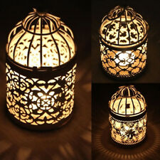 Antique Moroccan Style Hanging Lantern Hollow Candle Holder Stand Wedding Decor