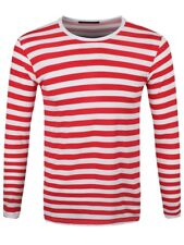 New Striped Red and White Long Sleeved T-Shirt