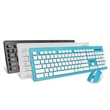 2.4 G Wireless Ultra-thin Keyboard With Optical Mouse USB Combo for Laptop