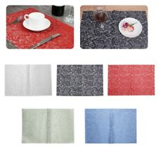 Rose Flower Jacquard Weave PVC Placemat Dining Table Mat Hotel Decoration Home