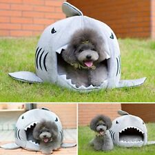 Cute Shark Mouth Warm Soft Pet House Sleeping Bag Teddy Pet Dog Cat Bed Cushion