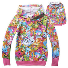 Shopkins Kids Girls Boys Hoodies Coat Long Sleeve Autumn Spring Party Clothes