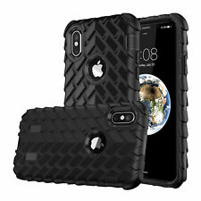 Shockproof Hybrid Gel Armor Rubber Tire Pattern Case Cover For iPhone  8 8 Plus