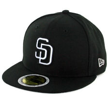 "New Era 5950 San Diego Padres ""Flected Team"" Fitted Hat (Black) Men's MLB Cap"