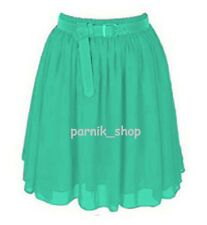 PR Lady Short Mini Chiffon Skirt Lining Pleated Retro Elastic Waist Hot Skirt