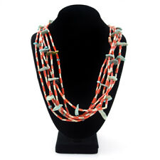 Navajo Animal Fetish Necklace with Turquoise, Coral and Jet Heishi, c. 1950-60