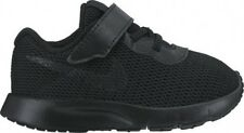 Nike Tanjun All Black No Laces Toddlers Shoes New In Box 818383 001