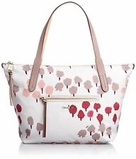 Cole Haan Parker Nylon Small Zip Top Shopper Bag Leather Trim Carerra Country