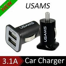 USAMS Universal 12V 3.1A Dual USB Port Car Charger for Mobile Phone Tablet PC AU