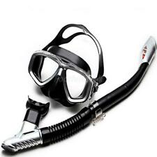 Adults Snorkelling Scuba Mask and Dry Snorkel Set Swimming Diving Freediving