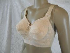 Sz 32F vintage 1960's LADY CAMEO nude LACE pointy BRA Wide Band NWOT #214