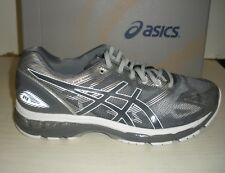 ASICS MENS NIMBUS 19 RUNNING SNEAKERS- SHOES- T700N-9701- CARBON/ WHITE/ SILVER