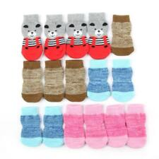 Cute Pet Dog Warm Anti-slip Cotton Knit Anti Skid Bottom Socks Soft Socks Set AU