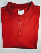 NWOT Victory Performance Men's Jersey Polo T- Shirt Red 2XL