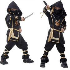 Warrior Ninja Dress Jumpsuits Rompers Costume Cosplay Party Fancy Halloween Kids