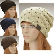 Stylish Knitted Acrylic Solid Color Unisex Cap Two Sides Use DZ88