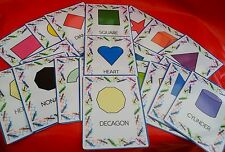 SHAPES - FLASH CARDS  - EARLY YEARS FIRST LEARNING EYFS SPECIAL NEEDS RESOURCE