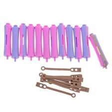 Pro Pack of 12 Perm Rods Girls Hair Curlers Wavy Rollers Beauty Salon Tool